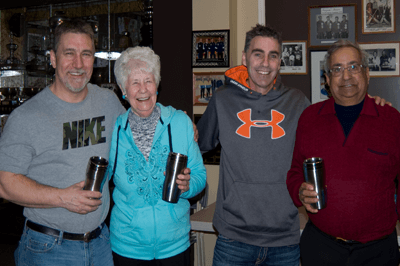 2016 Club Champions: Ray Fowler, Alice Duxbury, Ron Davis, Kumar Uberoi