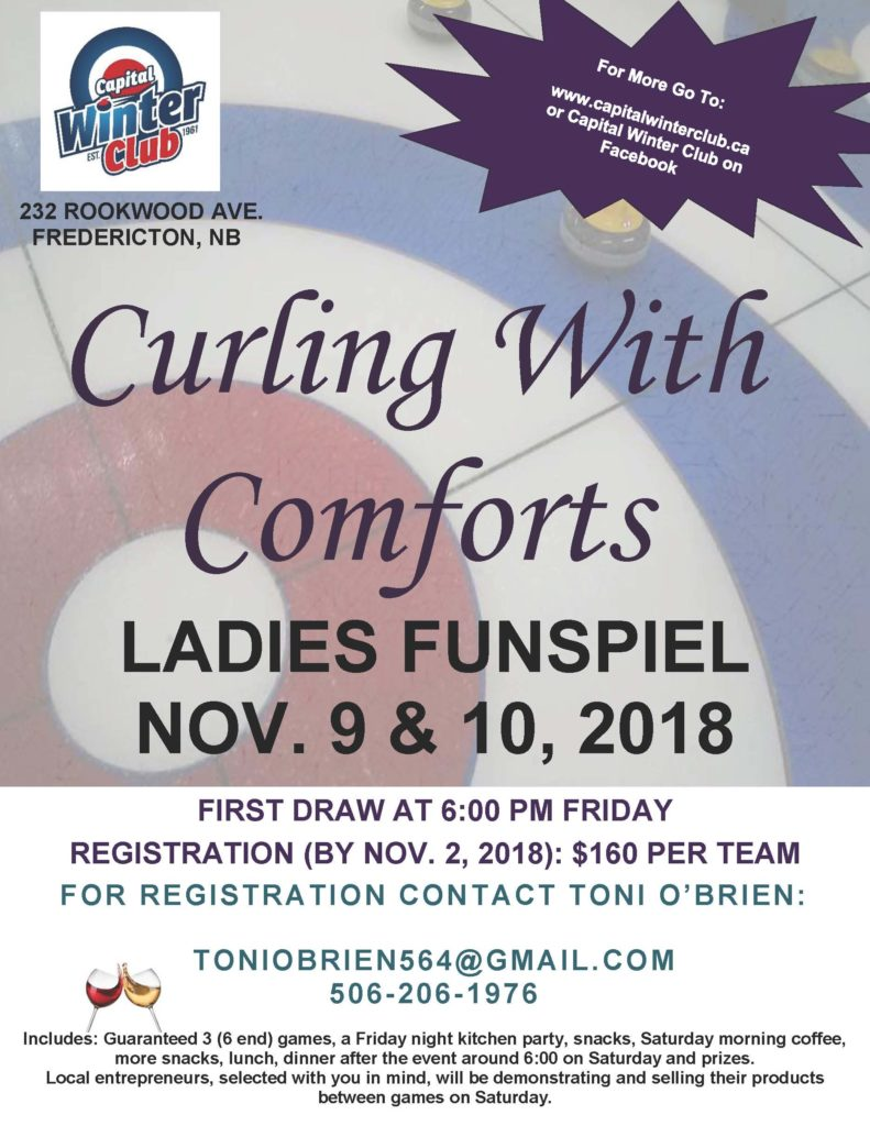 Curling with Comforts Ladies Funspiel