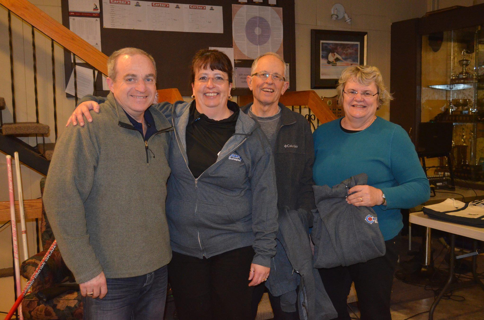 Carter's Sports Cresting Bonspiel 2016 - 1st Runner-Up - Kathy Craib, Ed Gogan, Rob LeMoine, Cindy Cameron