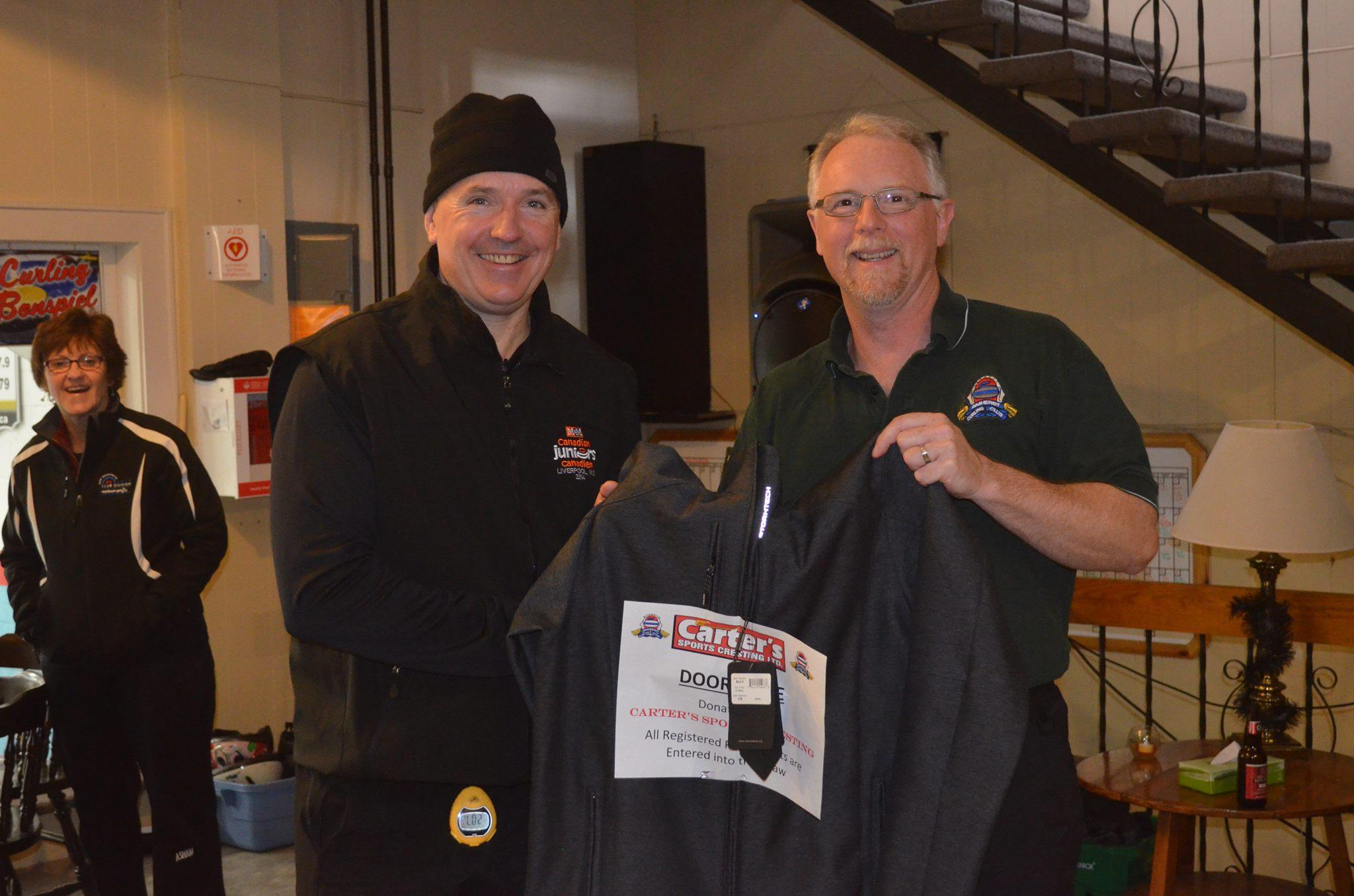 Carter's Sports Cresting Bonspiel 2016 - Door Prize Winner - Lary Trites, StormTec Jacket