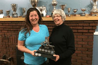 Ladies Hotshots Competition - Rhonda Perry (Underfoot Flooring) & Joan Cameron