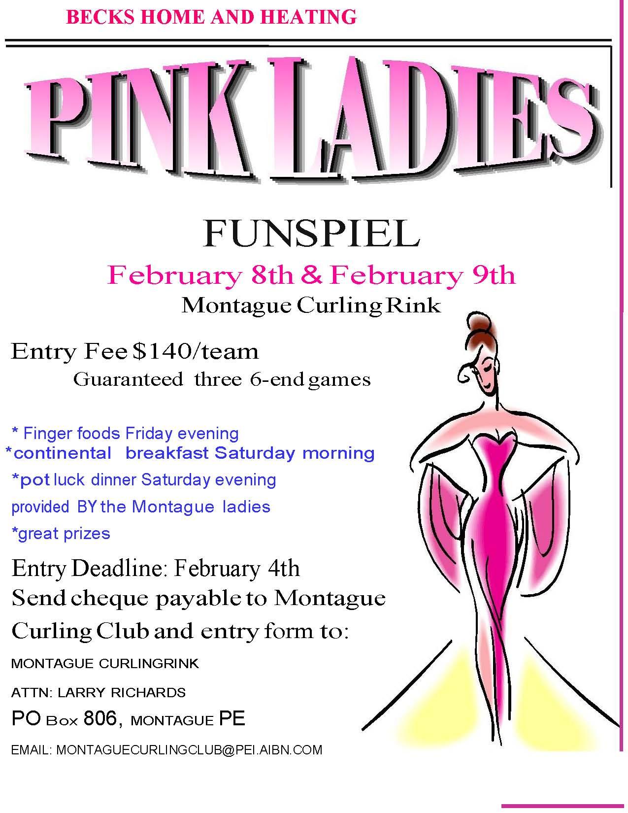 Pink Ladies Funspiel - Montague Curling Rink