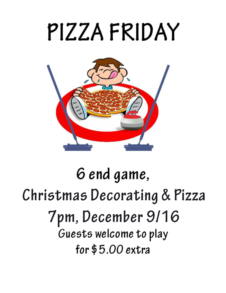 Amherst Curling Club Friday Night Pizza Curling