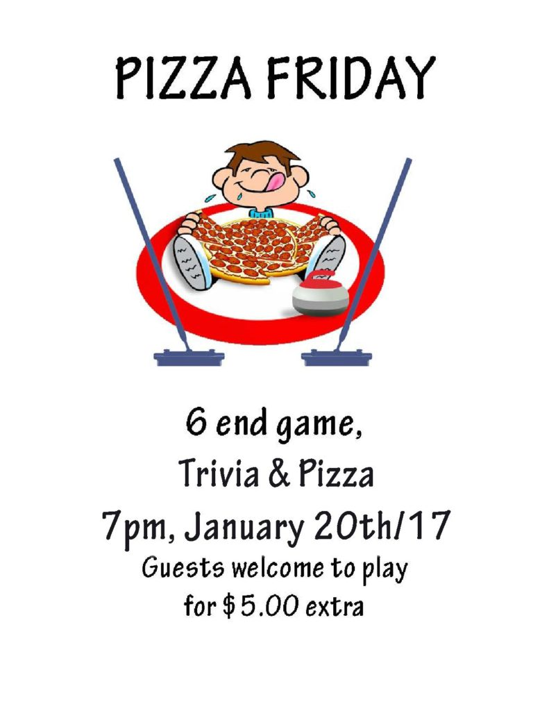 Amherst Curling CLub Pizza Friday