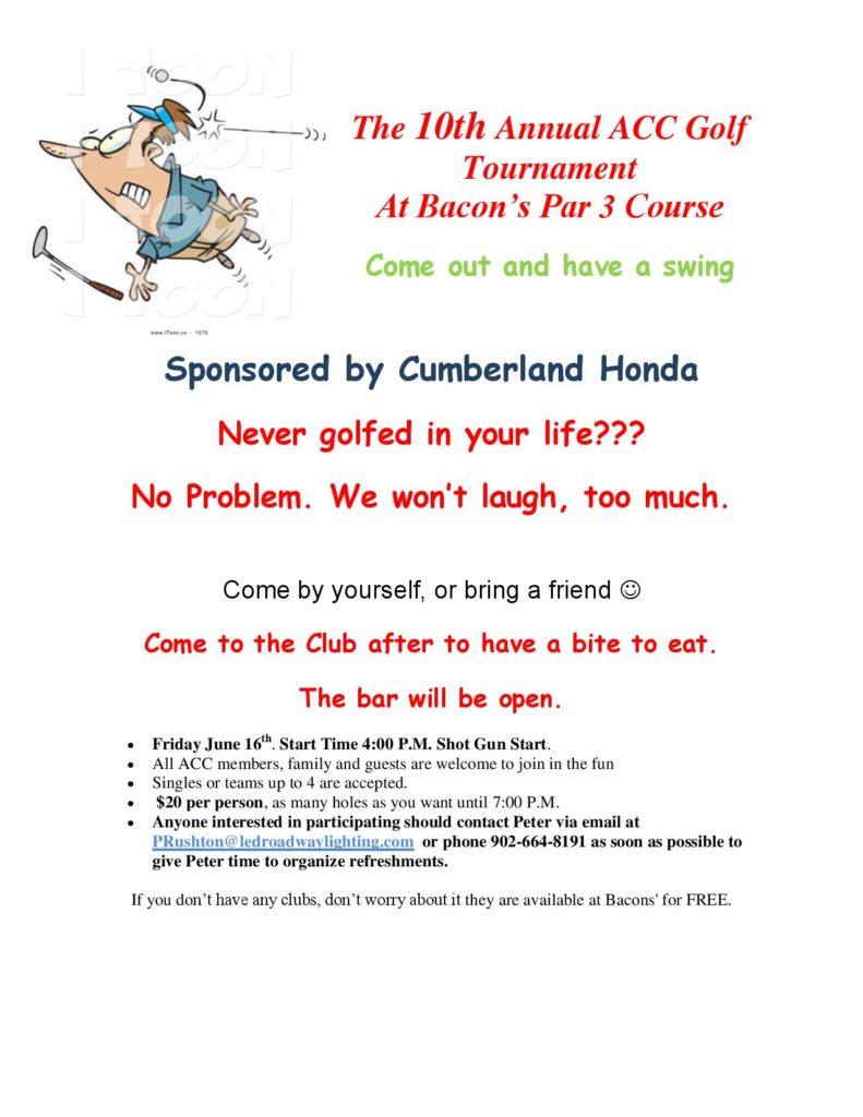10th Annual ACC Golf Tournament - June 16th, 2017