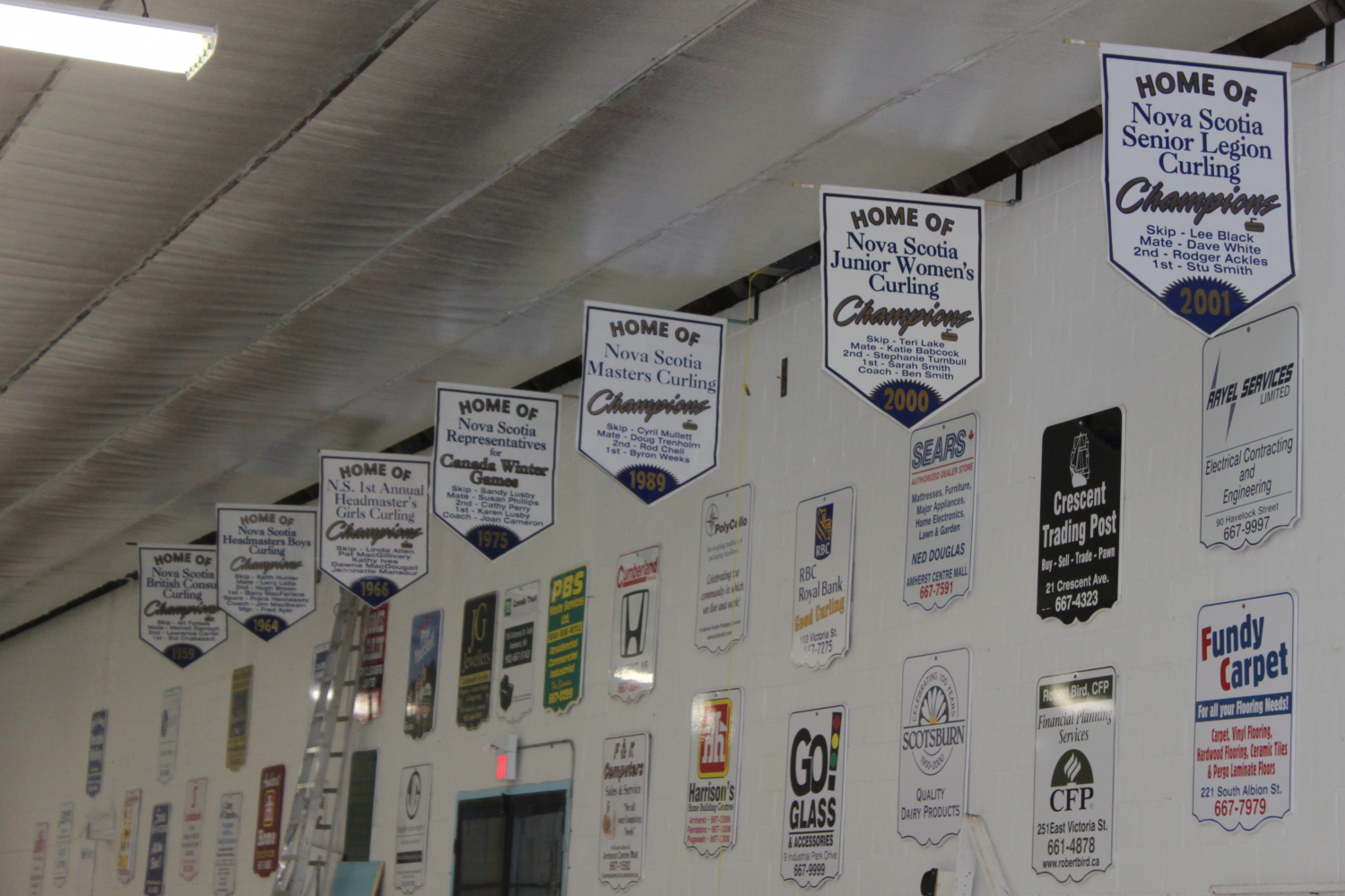 Amherst Curling Club Banners