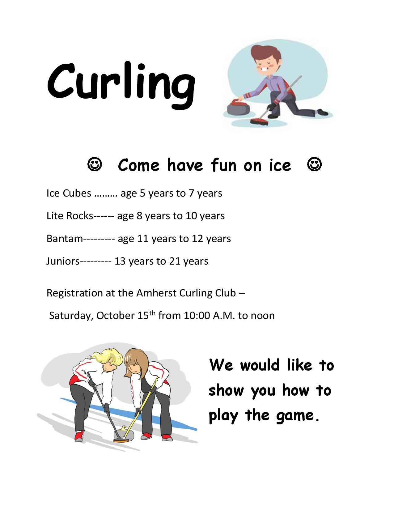 Lite Rocks - Junior Curling  Registration