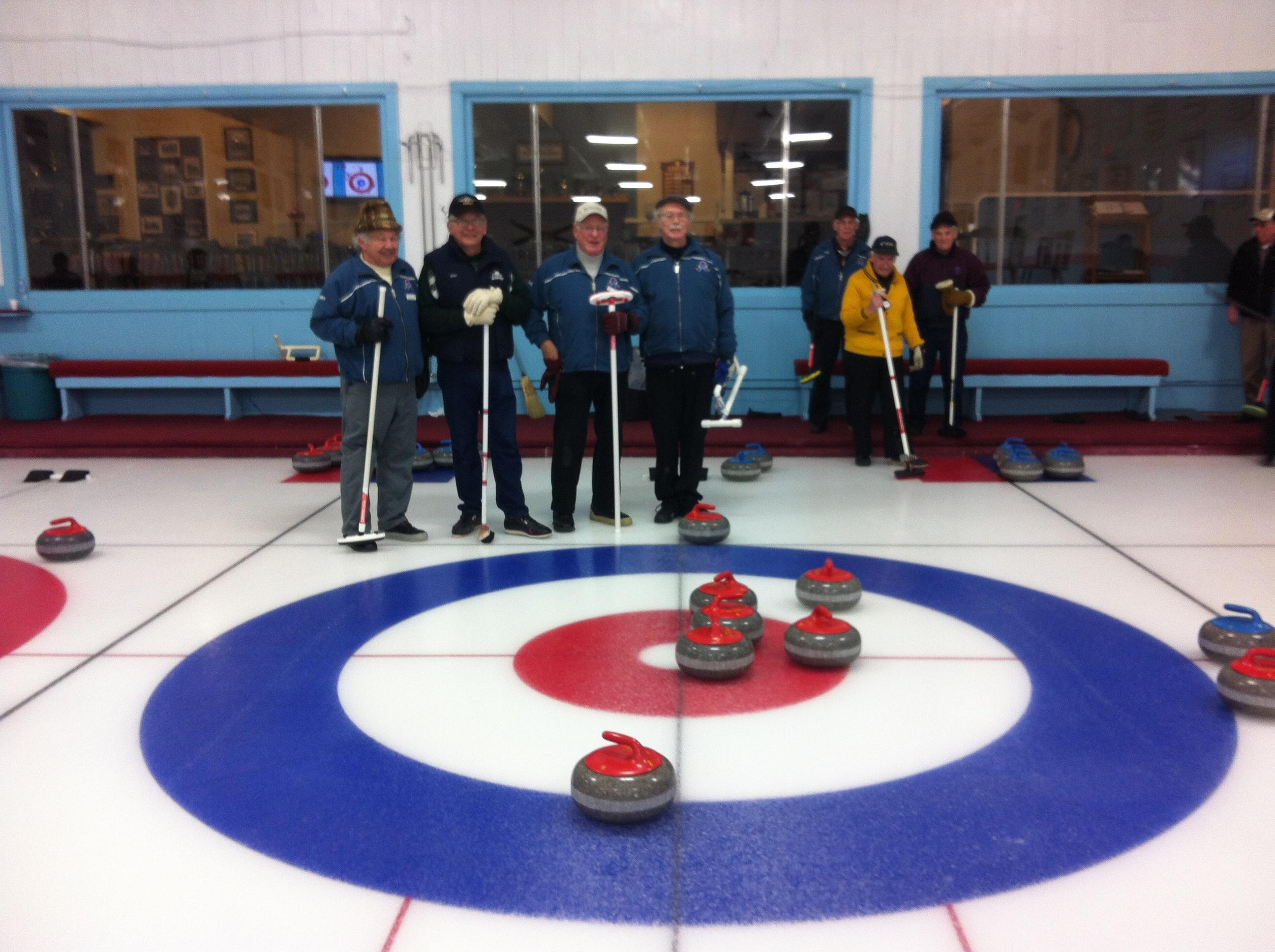 Senior's League 8 ender - Brian Faught, Gord Helm, Brian Shipley and Gary Bowser