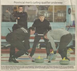 Provincial Men's curling qualifier underway